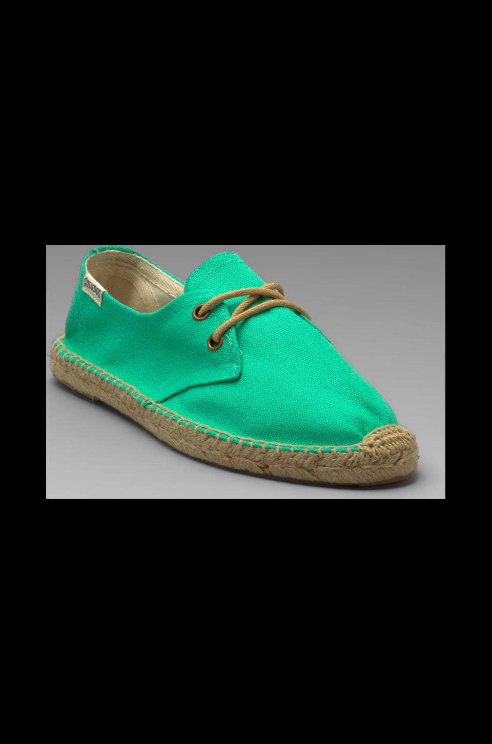 Soludos Canvas Derby Lace Up in Mint
