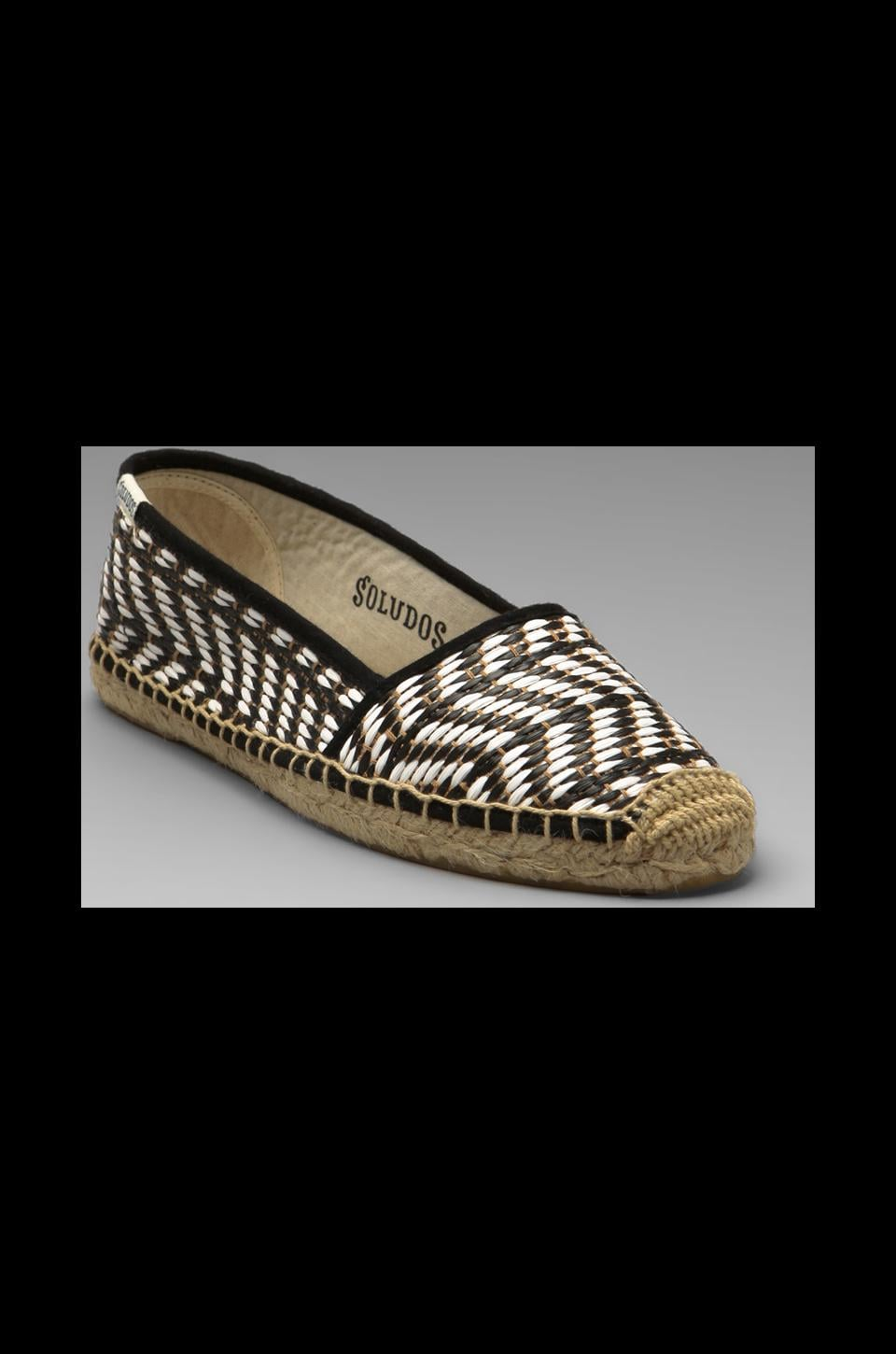 Soludos Raffia Low Cut in Black White