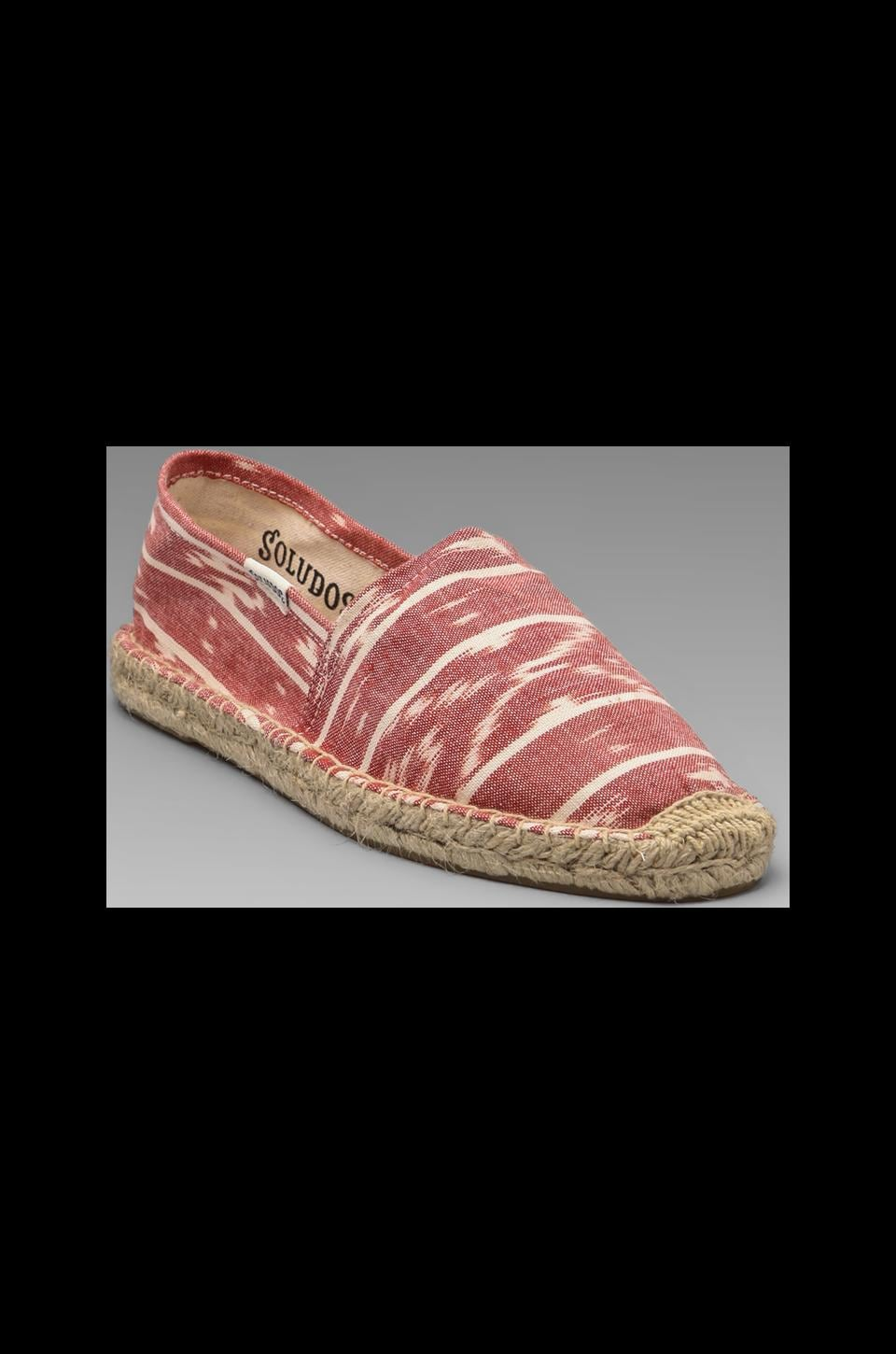 Soludos Ikat in Coral White
