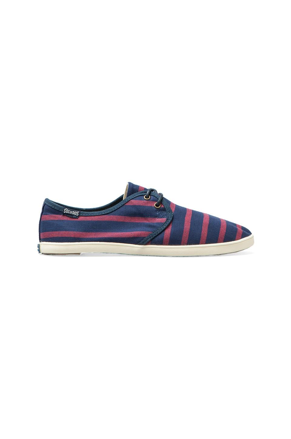 Soludos Classic Stripe Derby in Navy/Red