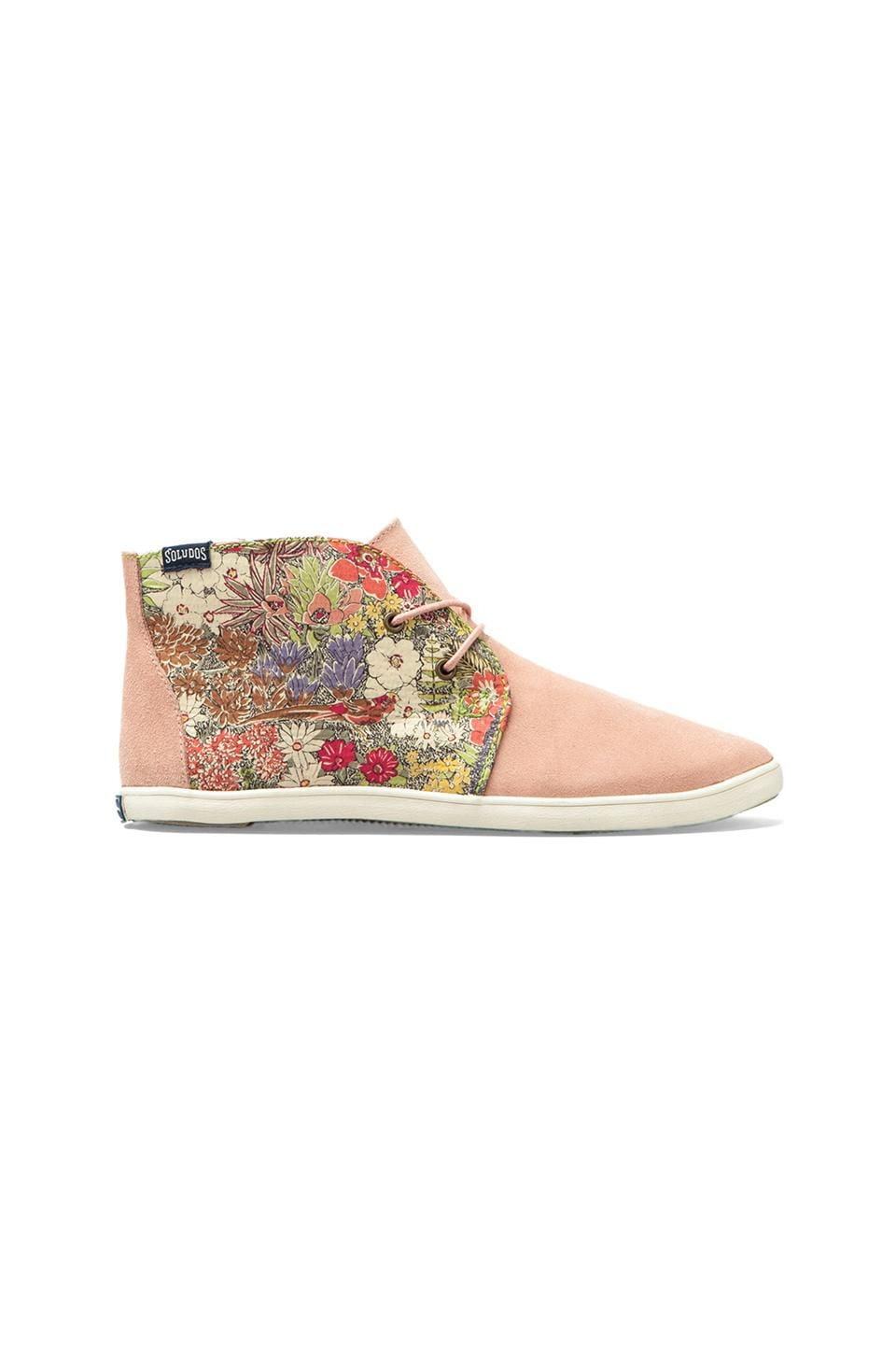 Soludos Floral Derby in Garden Party Green Pink