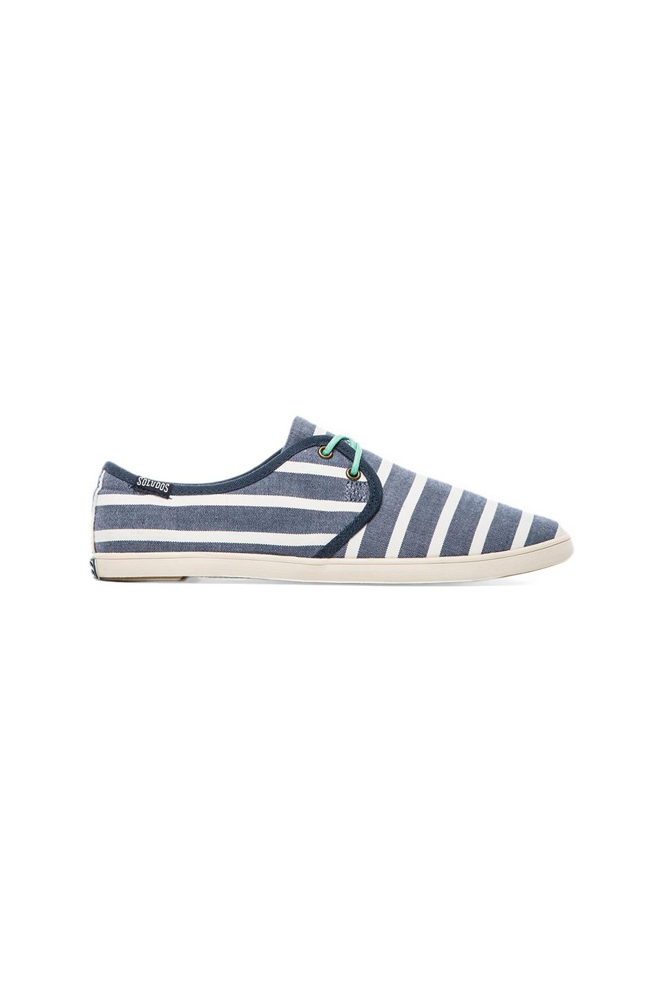 Soludos Sand Shoe Lace Up Classic in Light Navy White