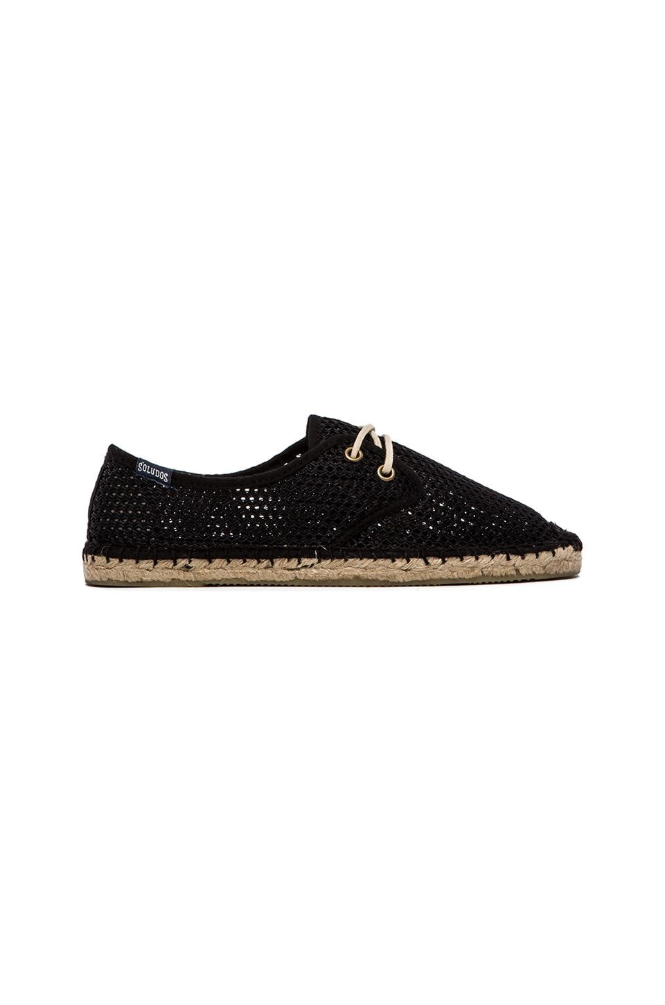 Soludos Mesh Derby Lace Up in Black