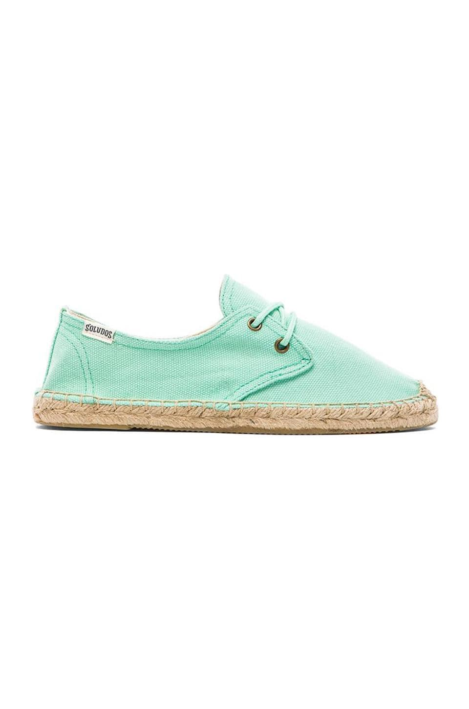 Soludos Derby Lace Up in Aqua