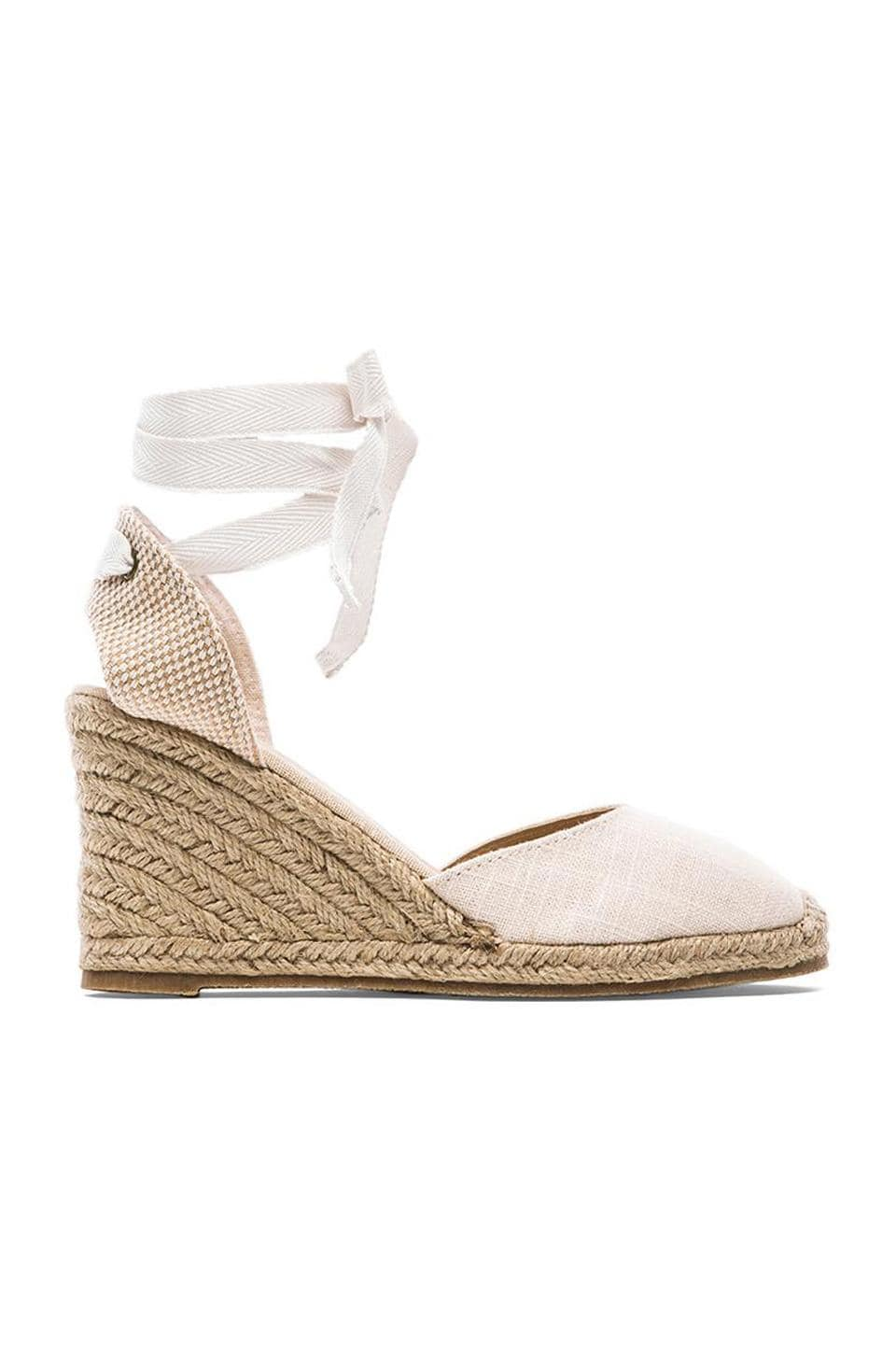 8750048a039 Soludos Tall Linen Wedge in Blush | REVOLVE