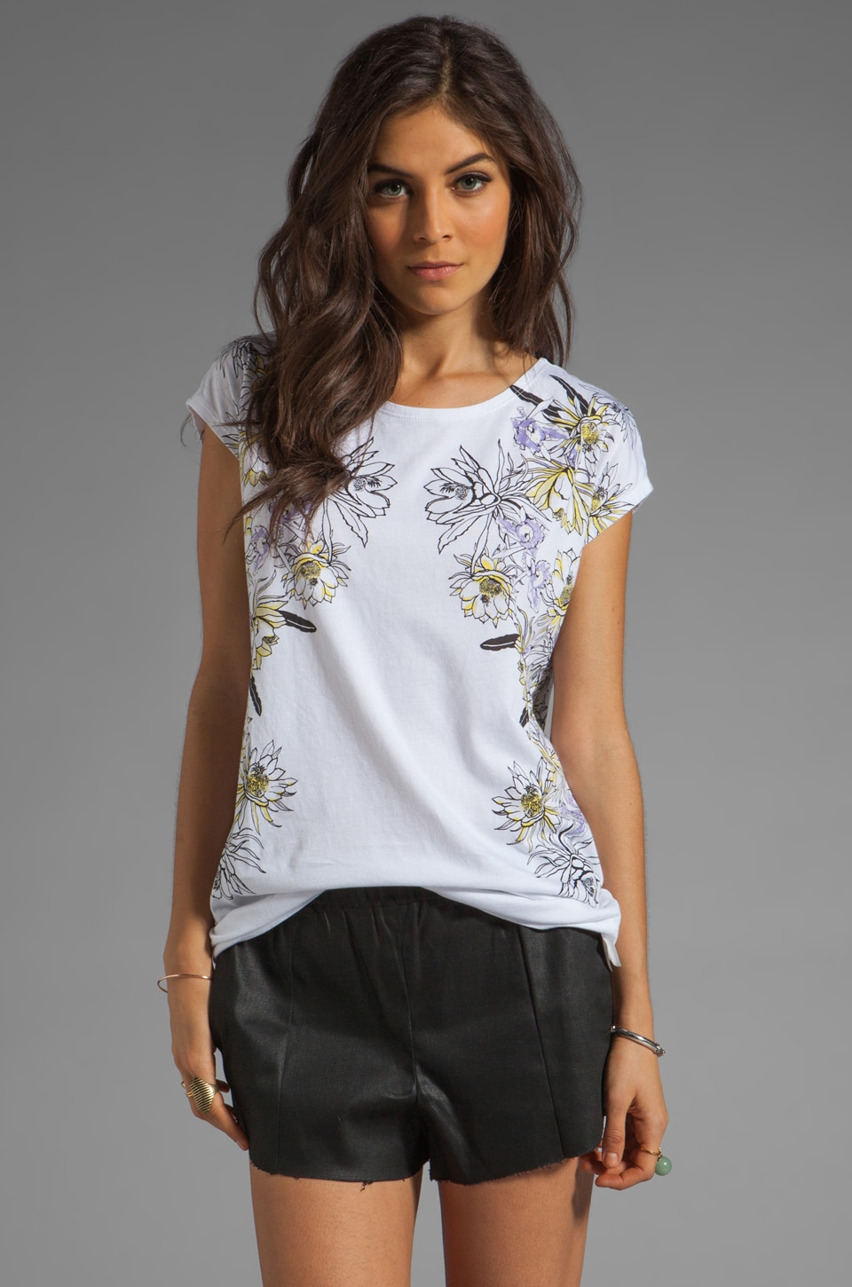 Something Else by Natalie Wood Queen Tee in White