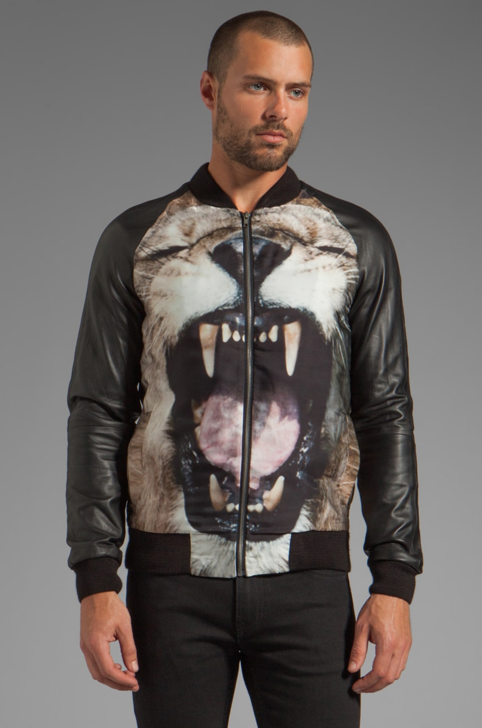 Sons of Heroes Lion Bomber in Black