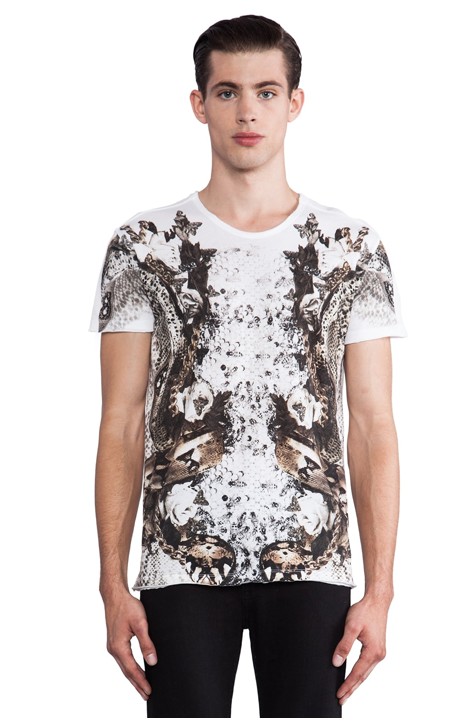 Sons of Heroes Double Snake Graphic Tee in White