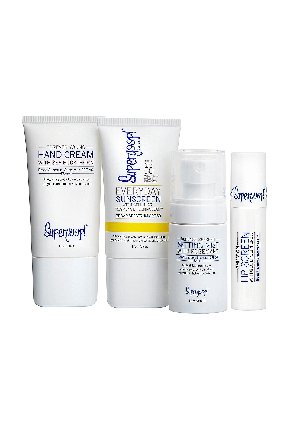 Supergoop! ENSEMBLE DE PROTECTION SOLAIRE LIVE IN THE SUNSHINE KIT