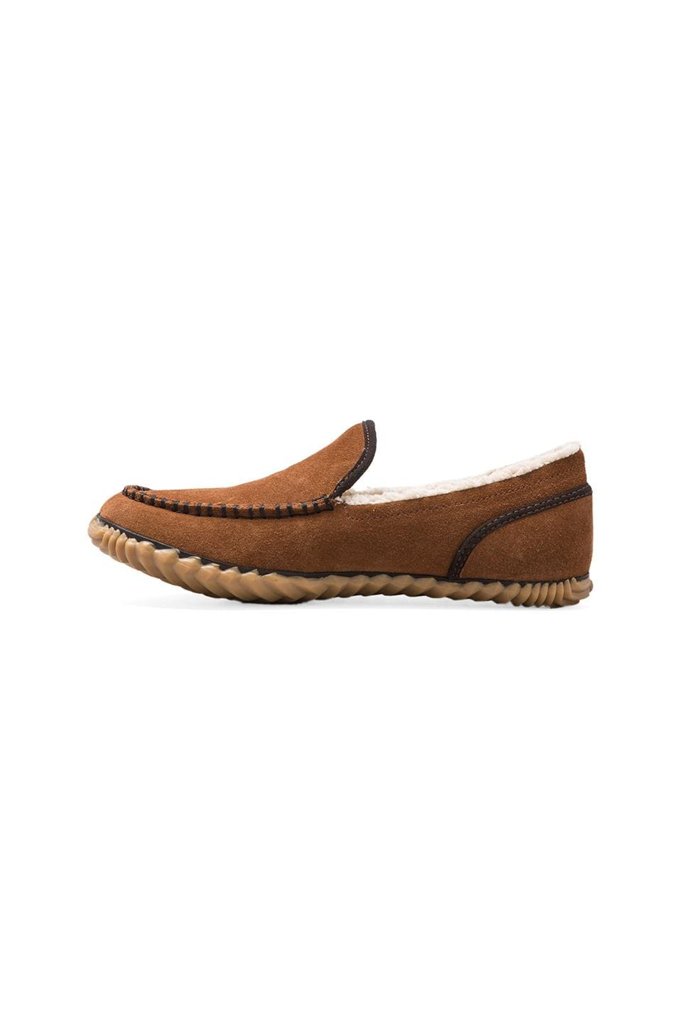 Sorel Dude Moc Slipper in Grizzly Bear