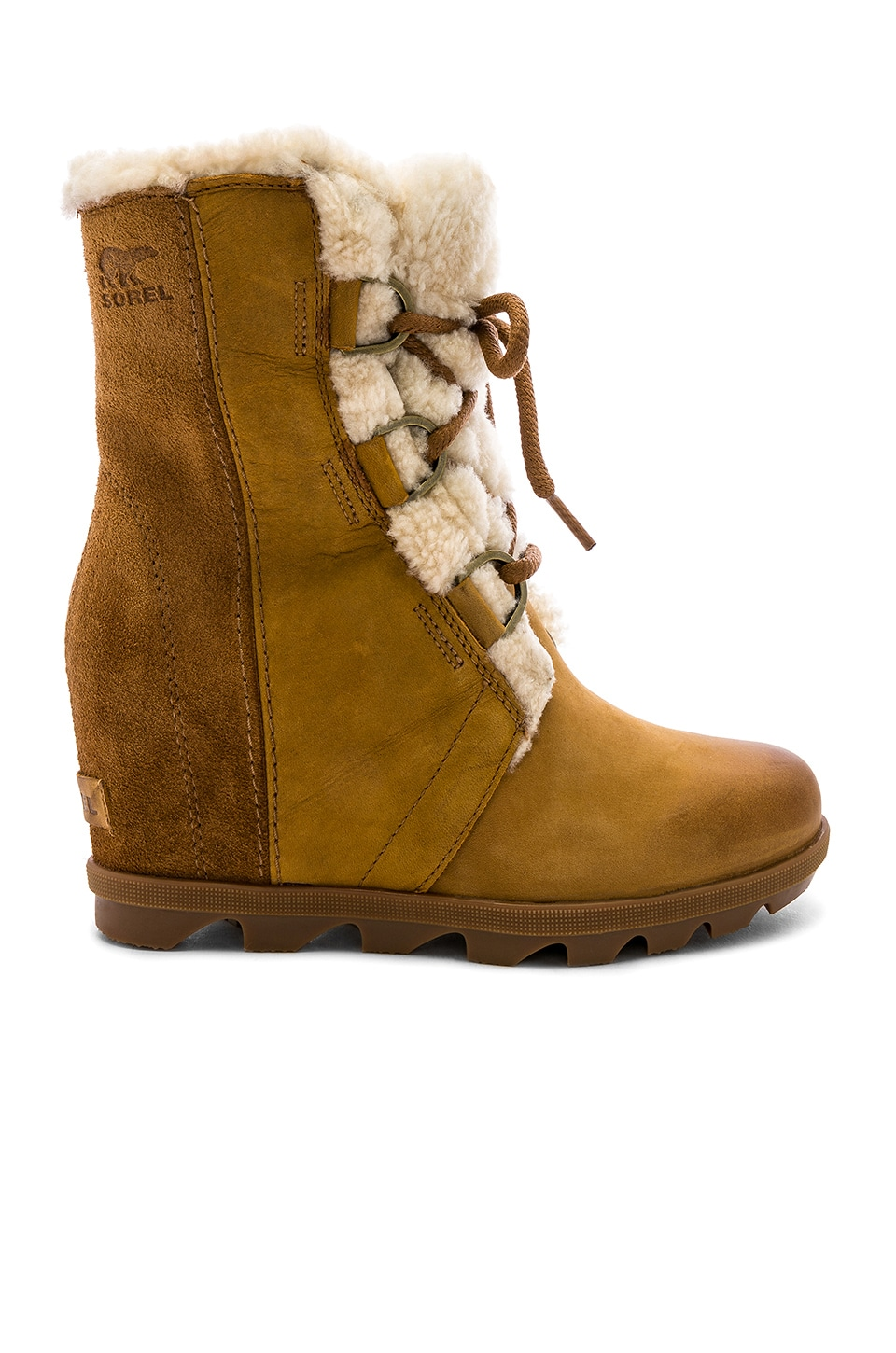 Sorel Joan of Arctic Wedge in Camel Brown