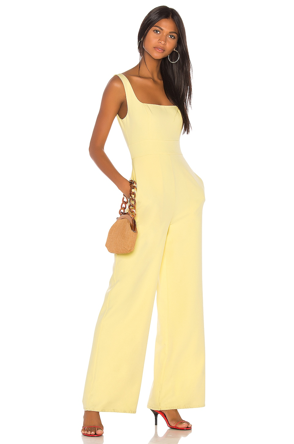Song of Style Hadley Jumpsuit in Citrus Yellow