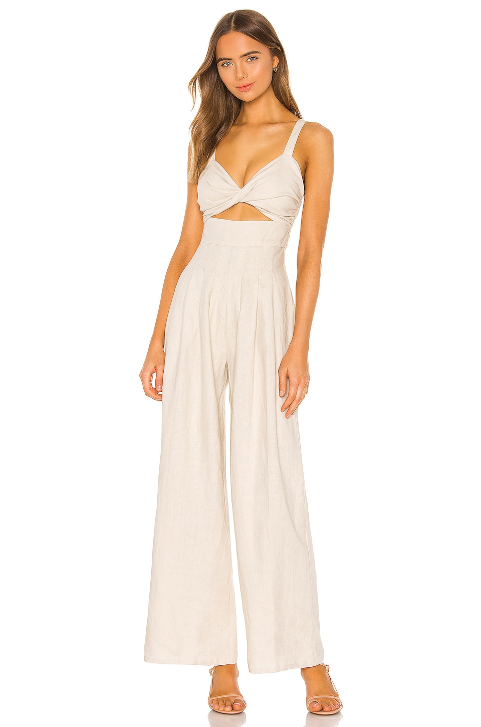 Song of Style James Jumpsuit in Sandstone Beige