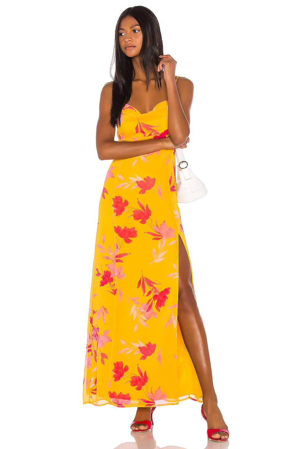 Song of Style Eli Maxi Dress in Yellow Floral