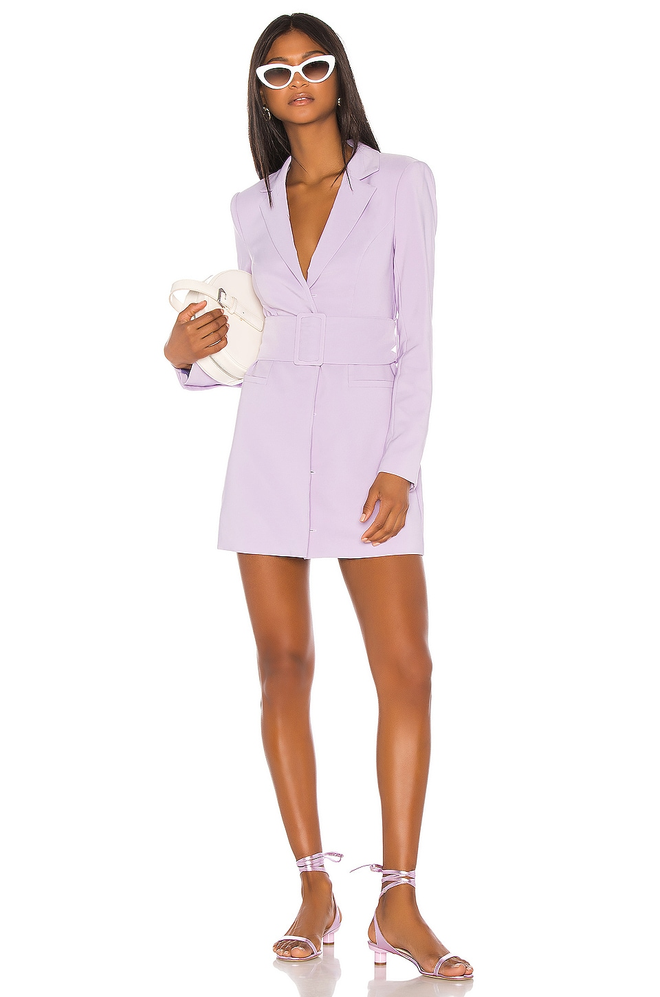 Song of Style Etta Blazer Mini Dress in Lilac Purple