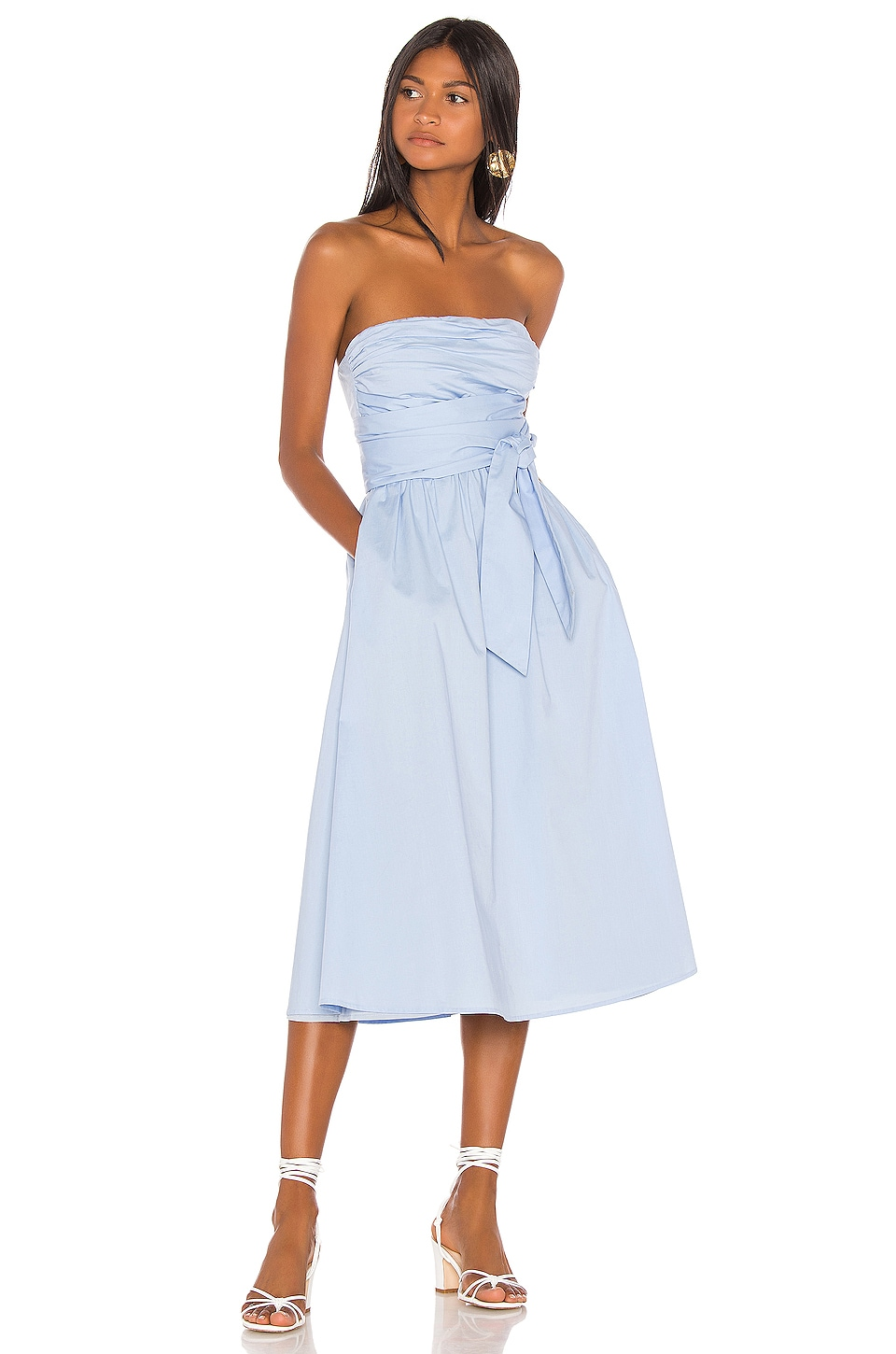 Song of Style Loki Midi Dress in Powder Blue