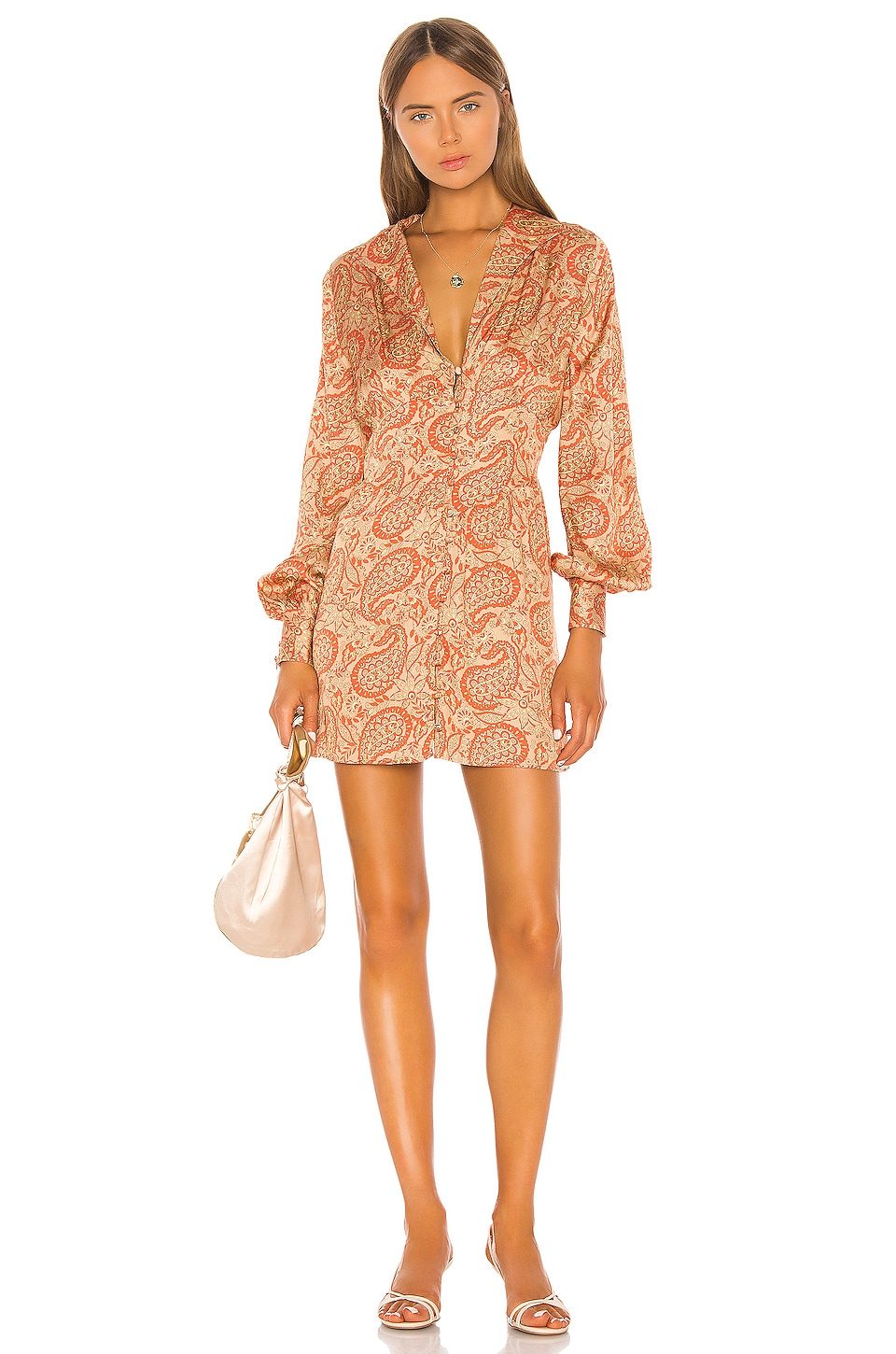 Song of Style Bella Mini Dress in Moroccan Multi