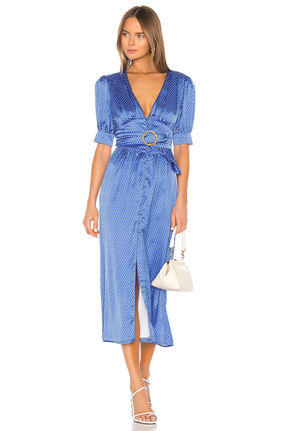 Song of Style Dimitri Midi Dress in Blue Dot
