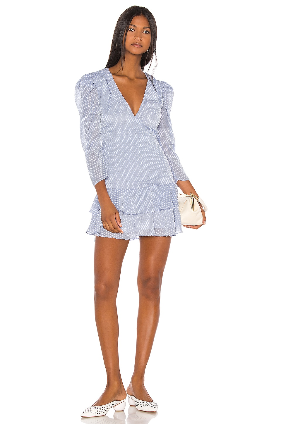 Song of Style Jace Mini Dress in Sky Blue