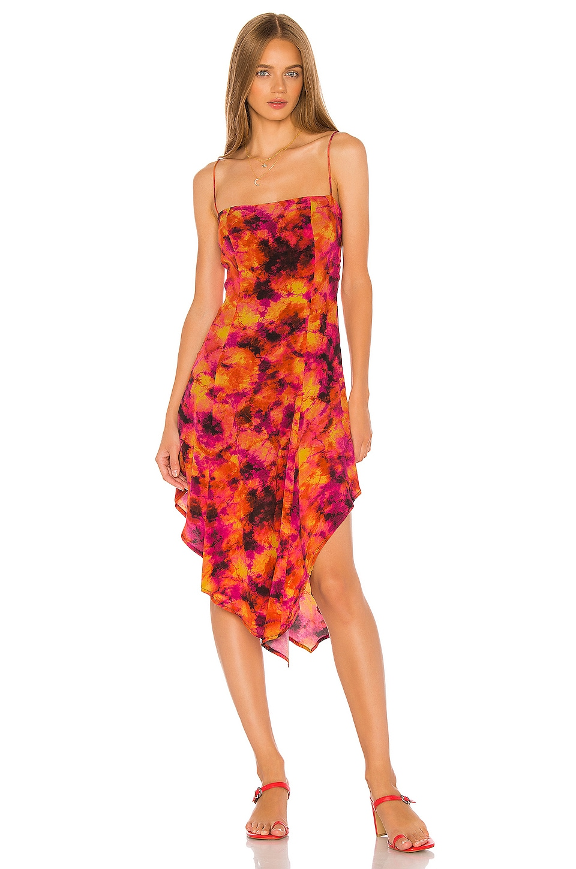 Song of Style Harlow Midi Dress in Sunburst Multi
