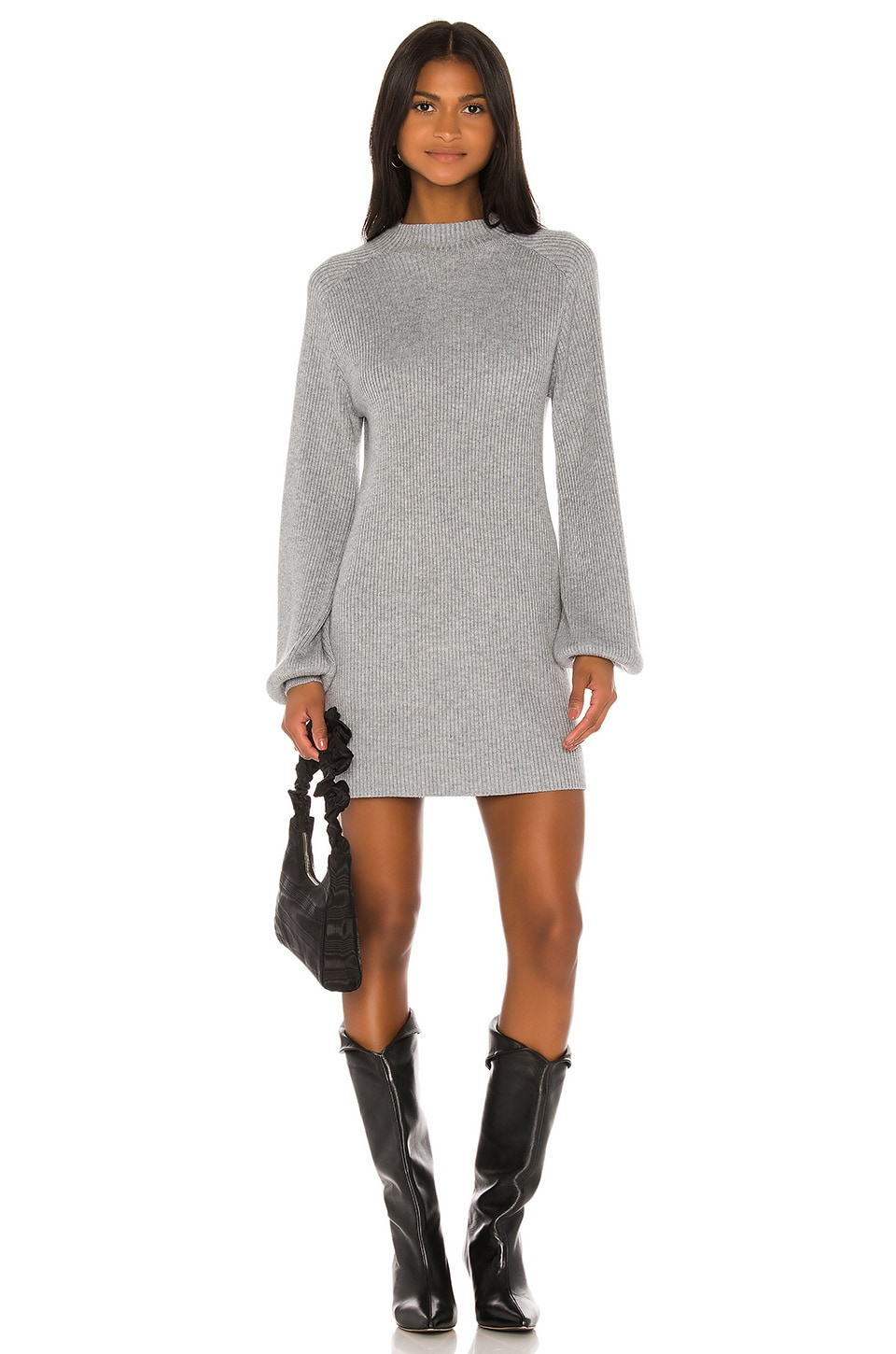 Song of Style Erin Sweater Dress in Grey