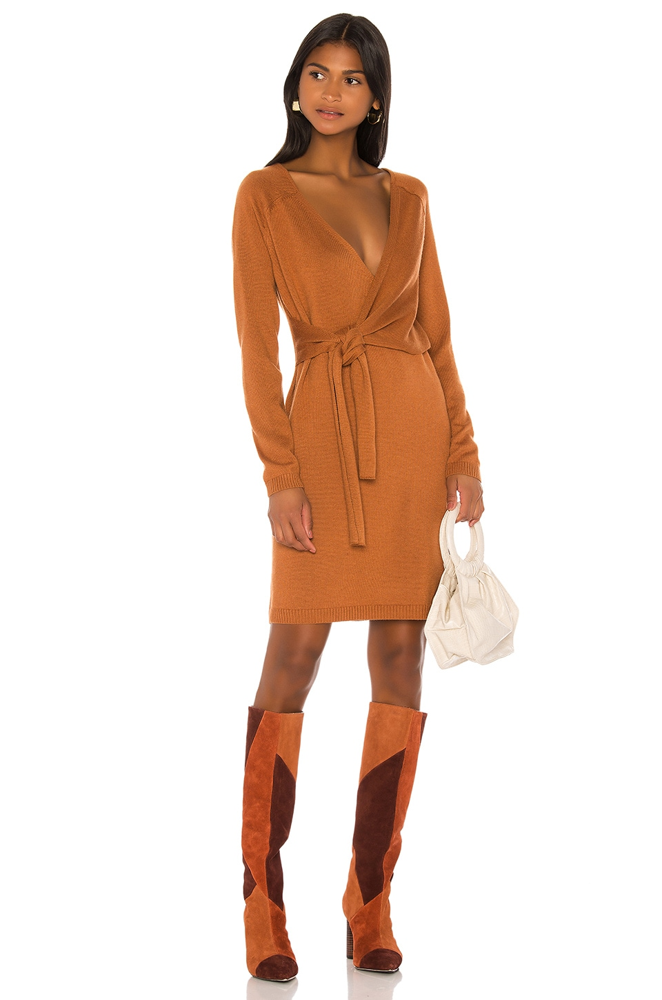 Song of Style Sammy Wrap Dress in Tan