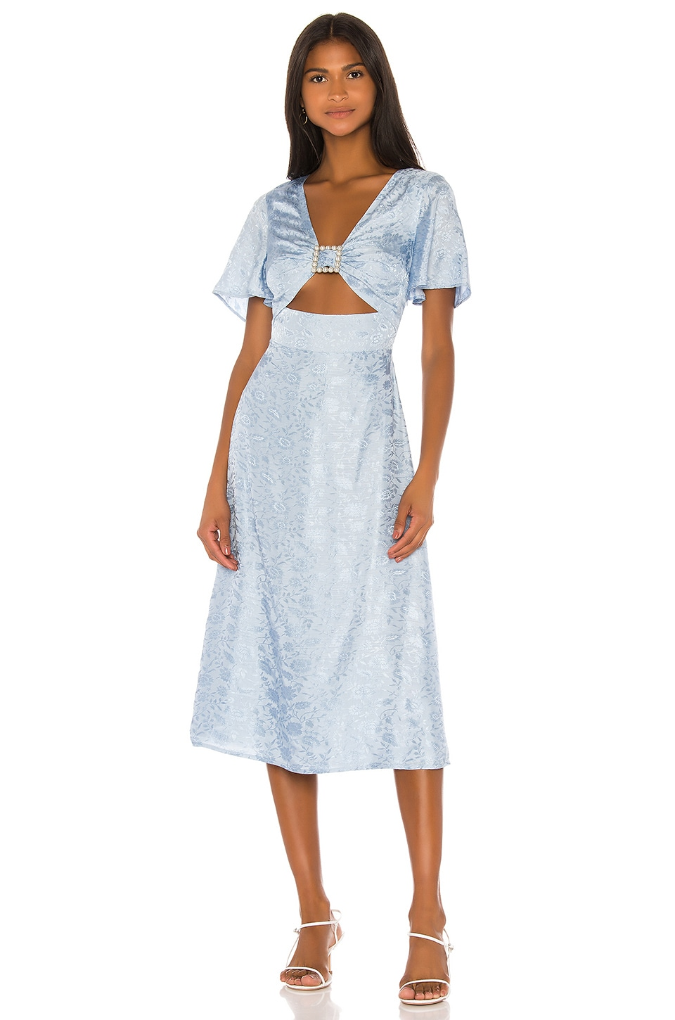 Song of Style Miranda Midi Dress in French Blue