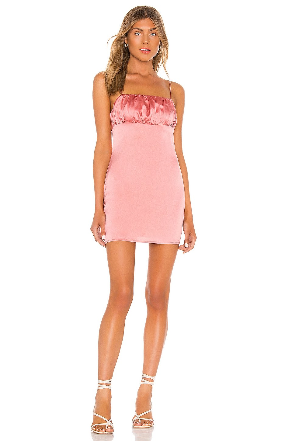 Song of Style Willow Mini Dress in Rouge Pink