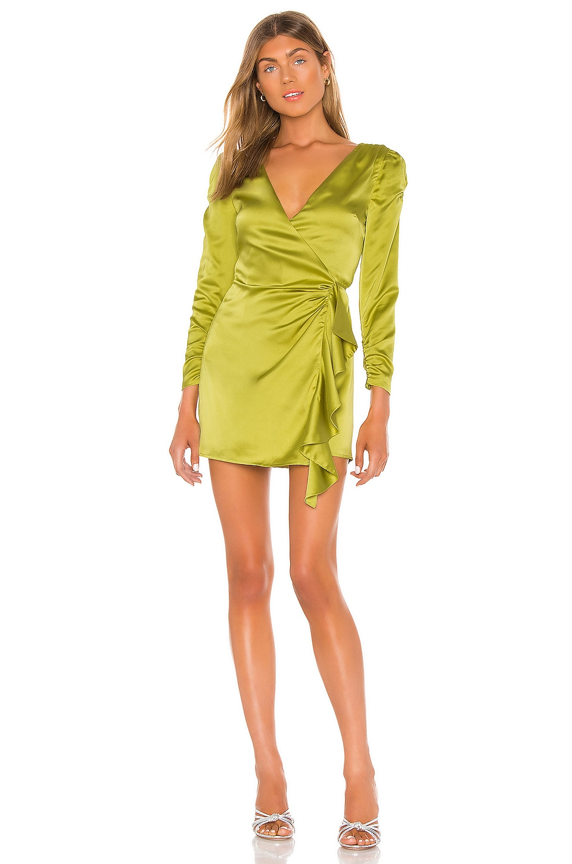 Song of Style Dala Mini Dress in Moss Green