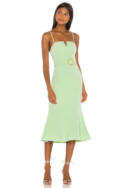 Song of Style Atlas Midi Dress in Green Tea