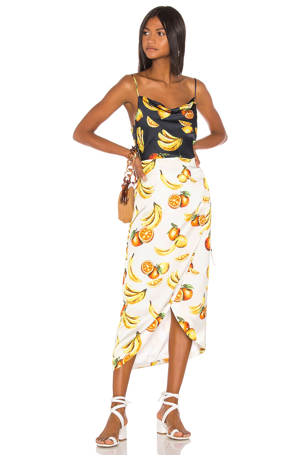 Song of Style Cleo Midi Dress in Fruit Multi