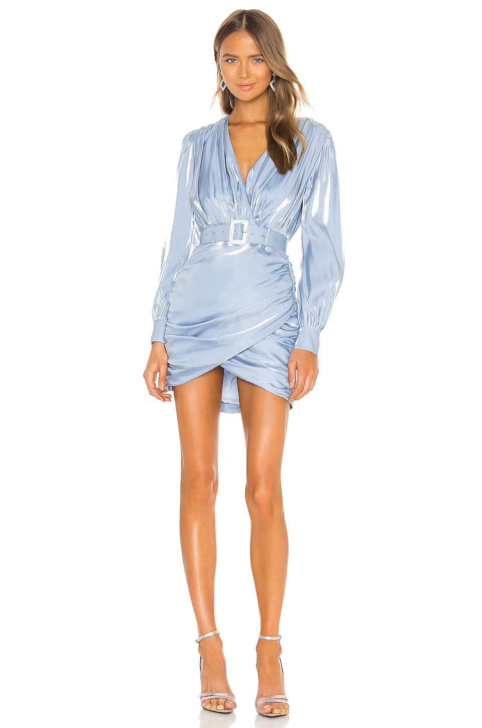 Song of Style Tucker Mini Dress in Clearwater Blue