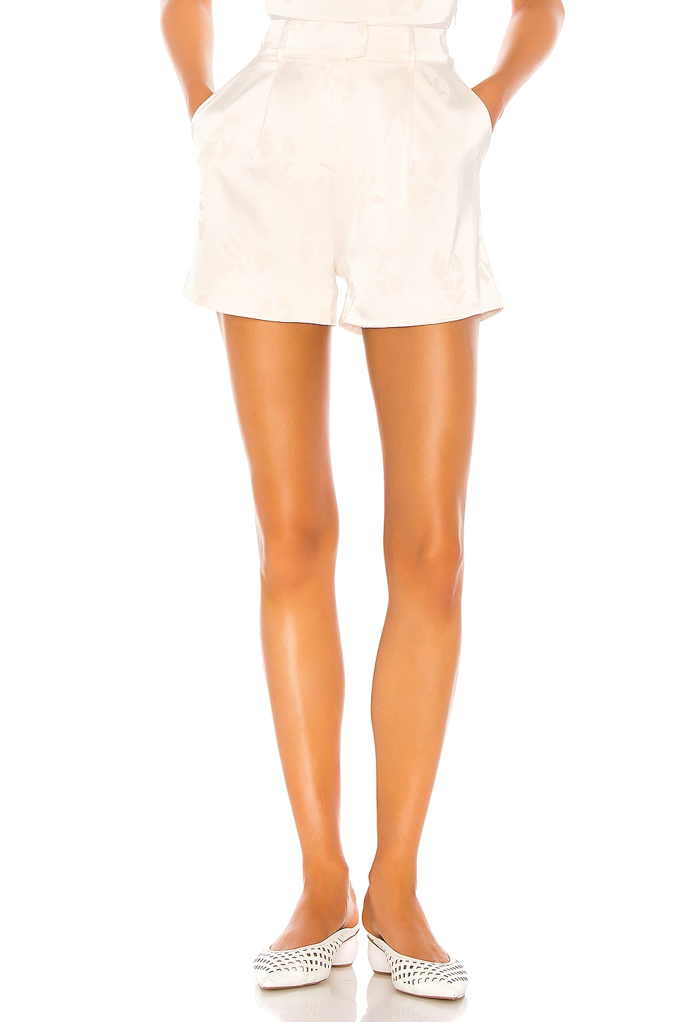 Song of Style Kahlo Short in Pearl White