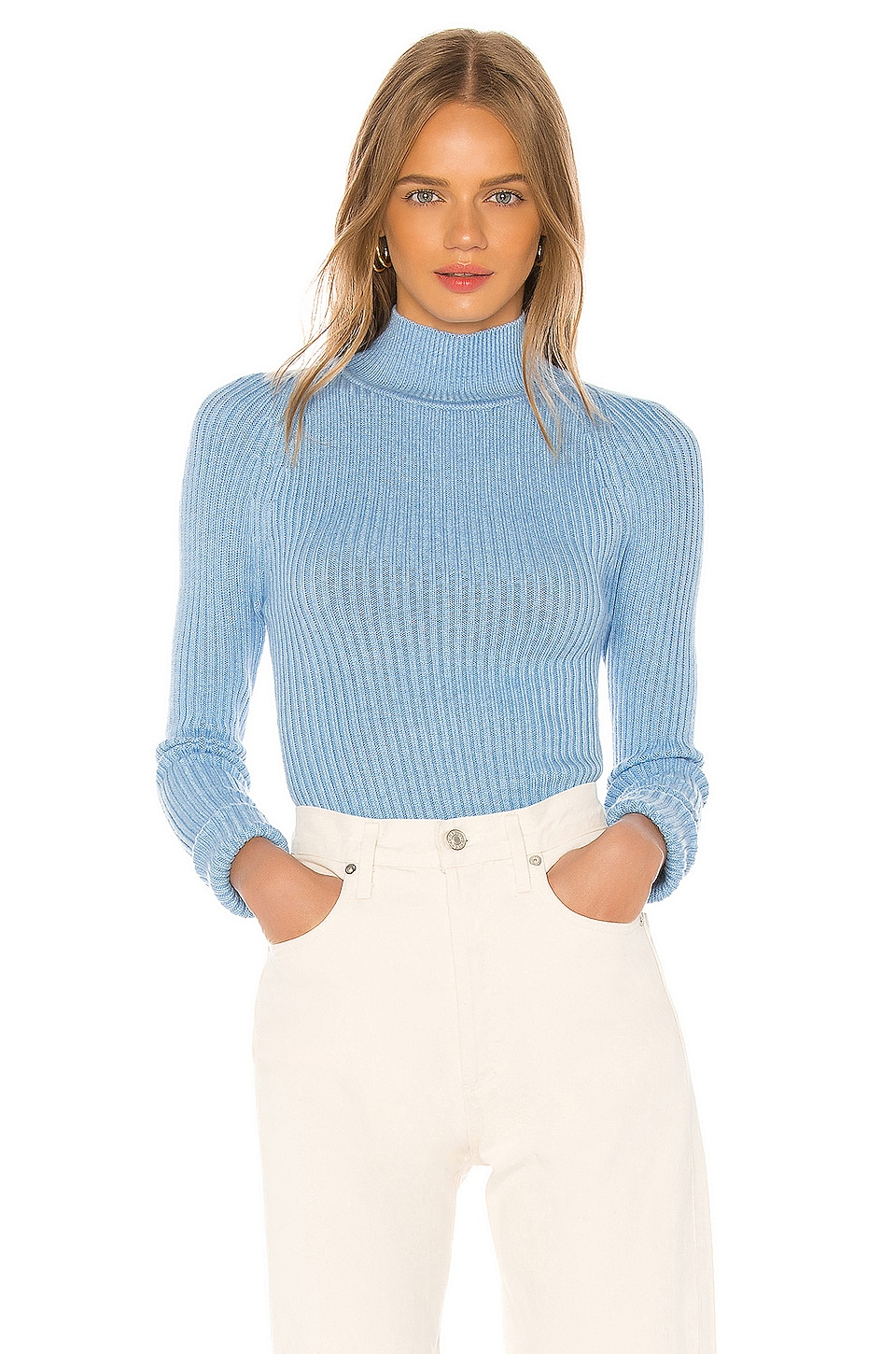 Song of Style Caiden Sweater in Baby Blue