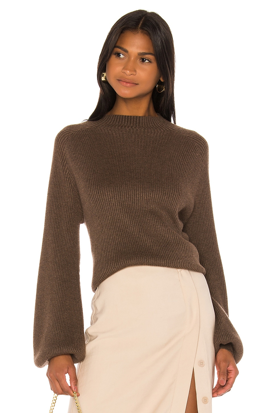 Song of Style Casey Sweater in Brown