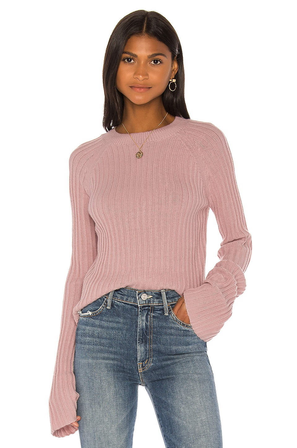 Song of Style Lila Sweater in Dusty Blush