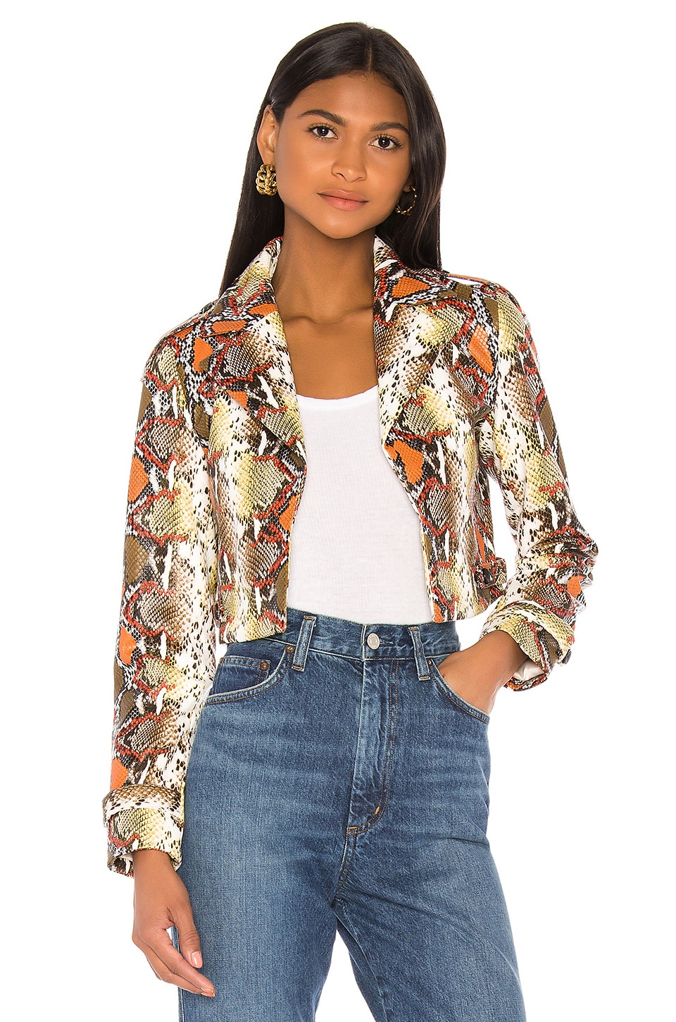 Song of Style Bennett Jacket in Snake Multi
