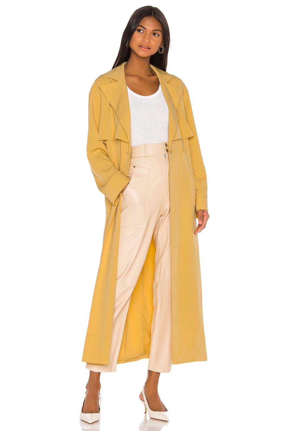 Song of Style Hugo Trench Coat in Autumn Yellow