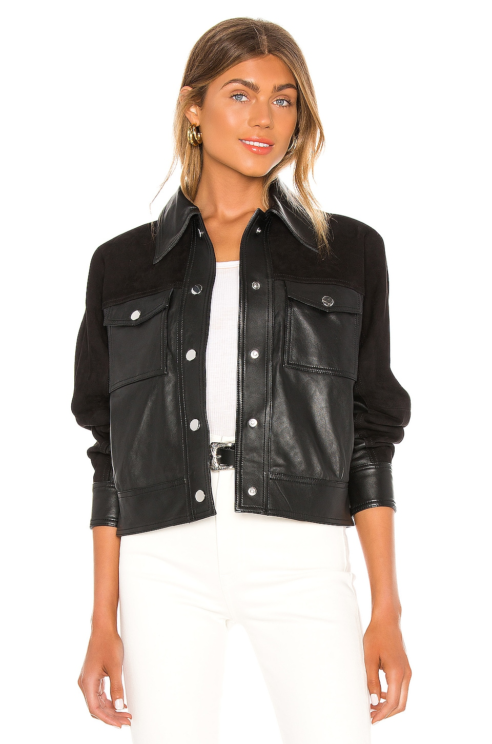 Song of Style Davi Leather Jacket in Black