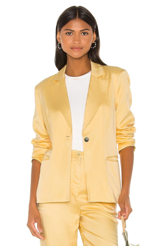 Song of Style Zoe Blazer in Buttercream Yellow