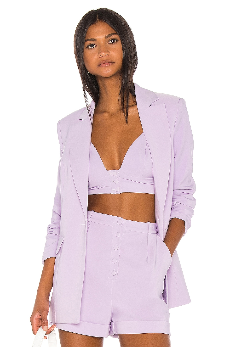 Song of Style Dakota Blazer in Lilac Purple