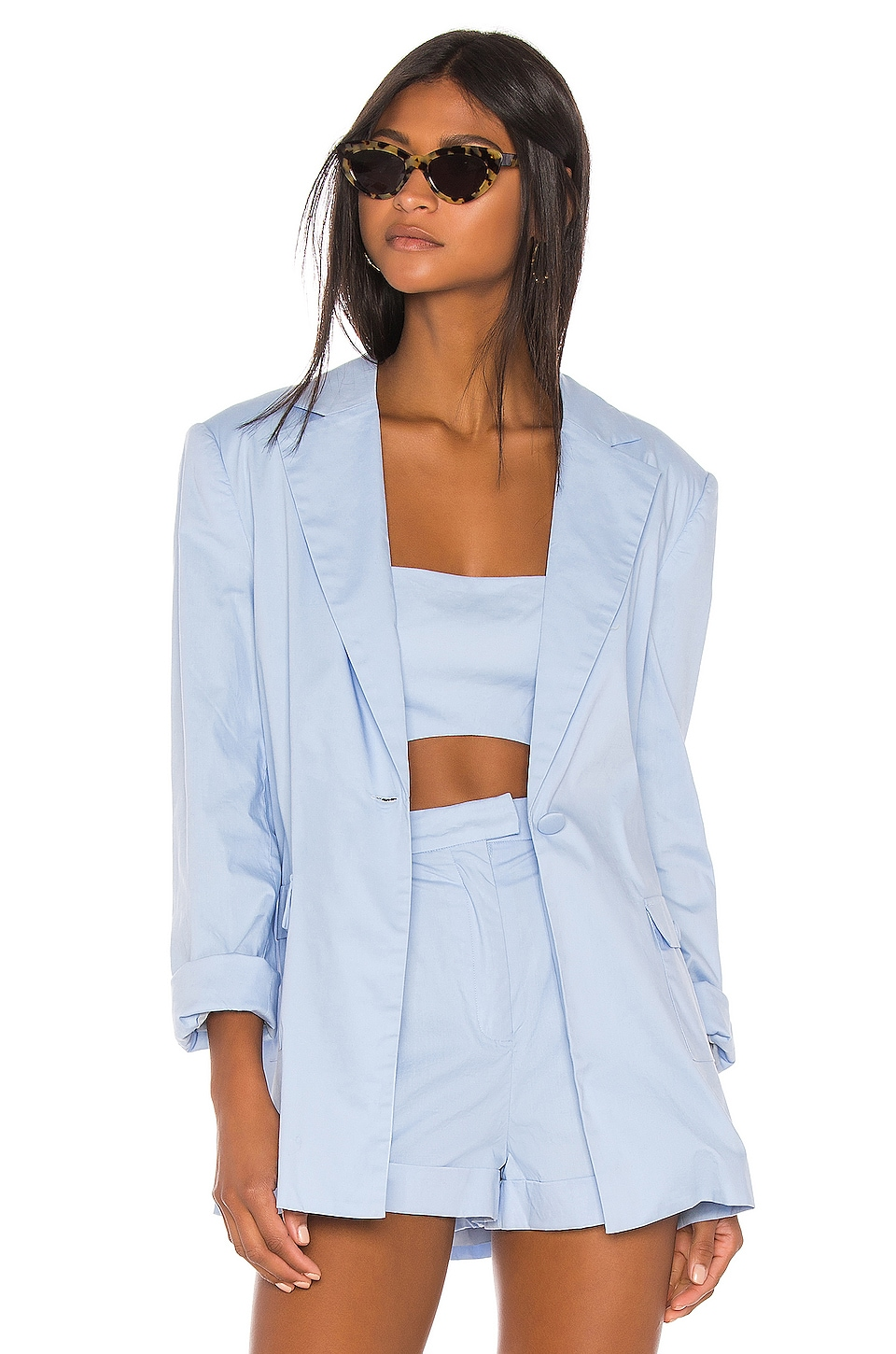 Song of Style Greta Blazer en Powder Blue
