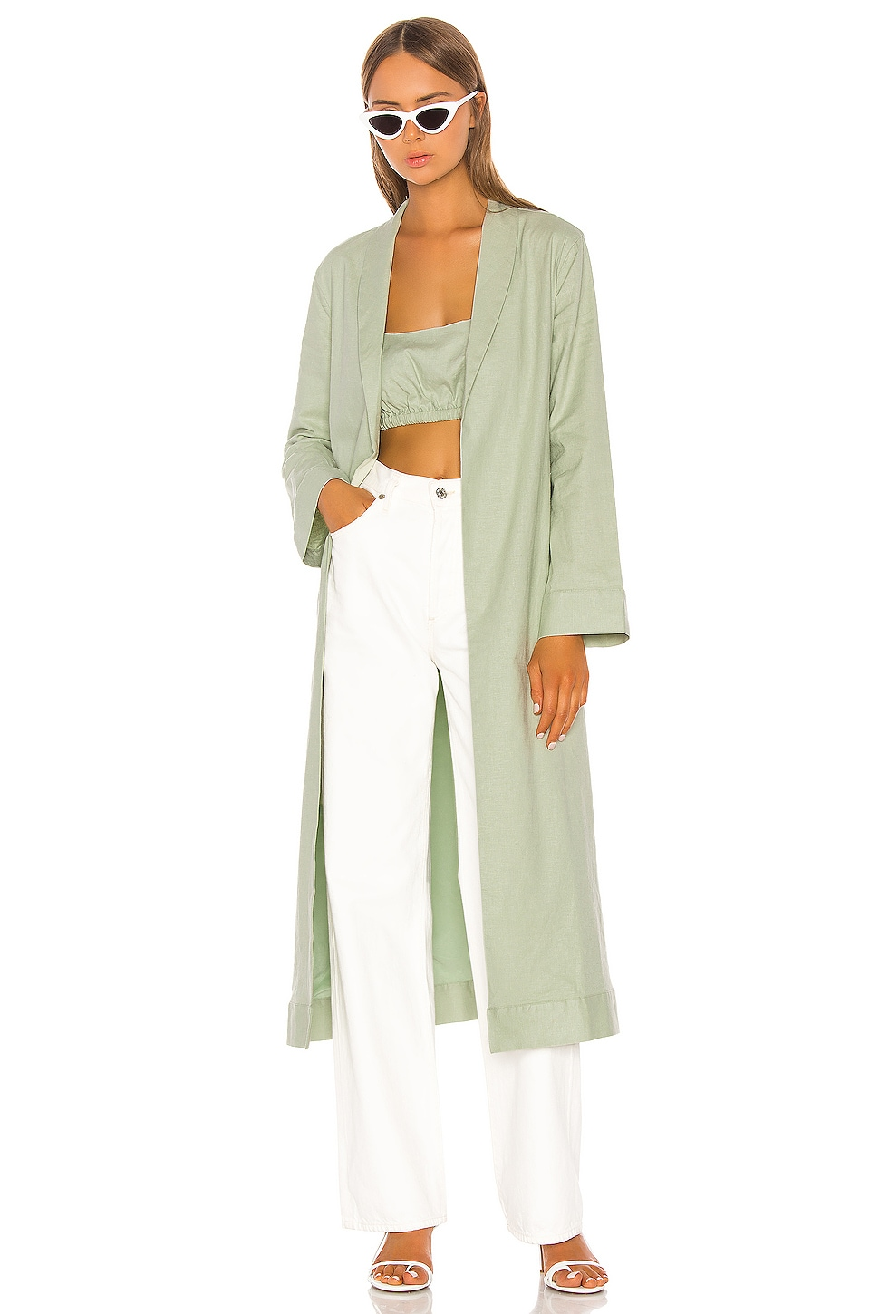Song of Style Mori Robe in Sage Green