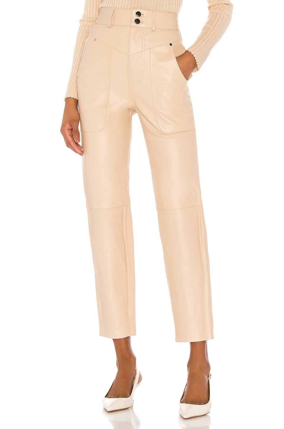 Song of Style Seana Leather Pant in Khaki