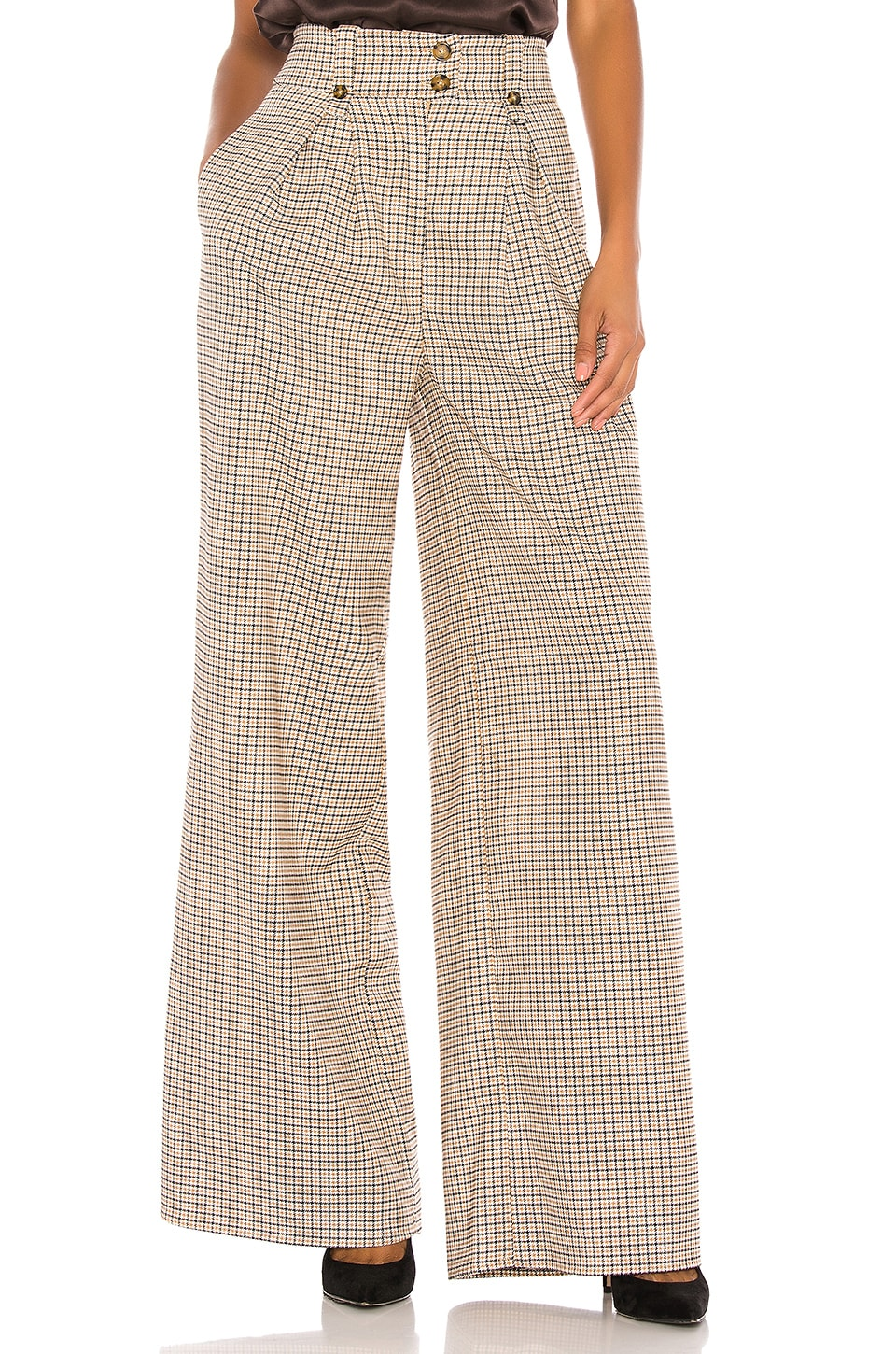 Song of Style Faye Pant in Plaid Multi