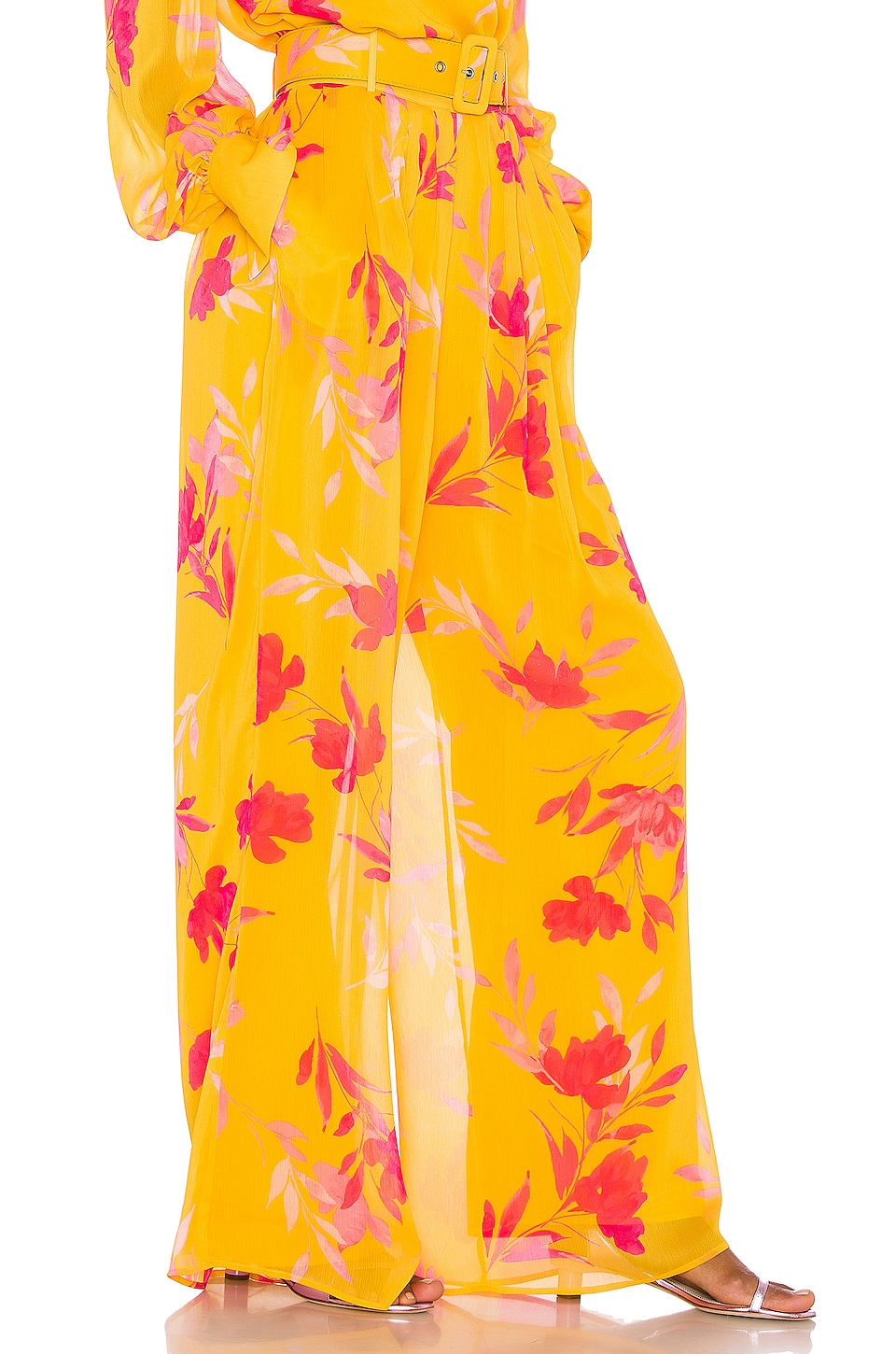Song of Style Karina Pant in Yellow Floral