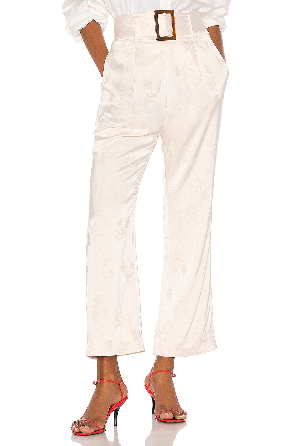 Song of Style Vance Pant in Pearl White
