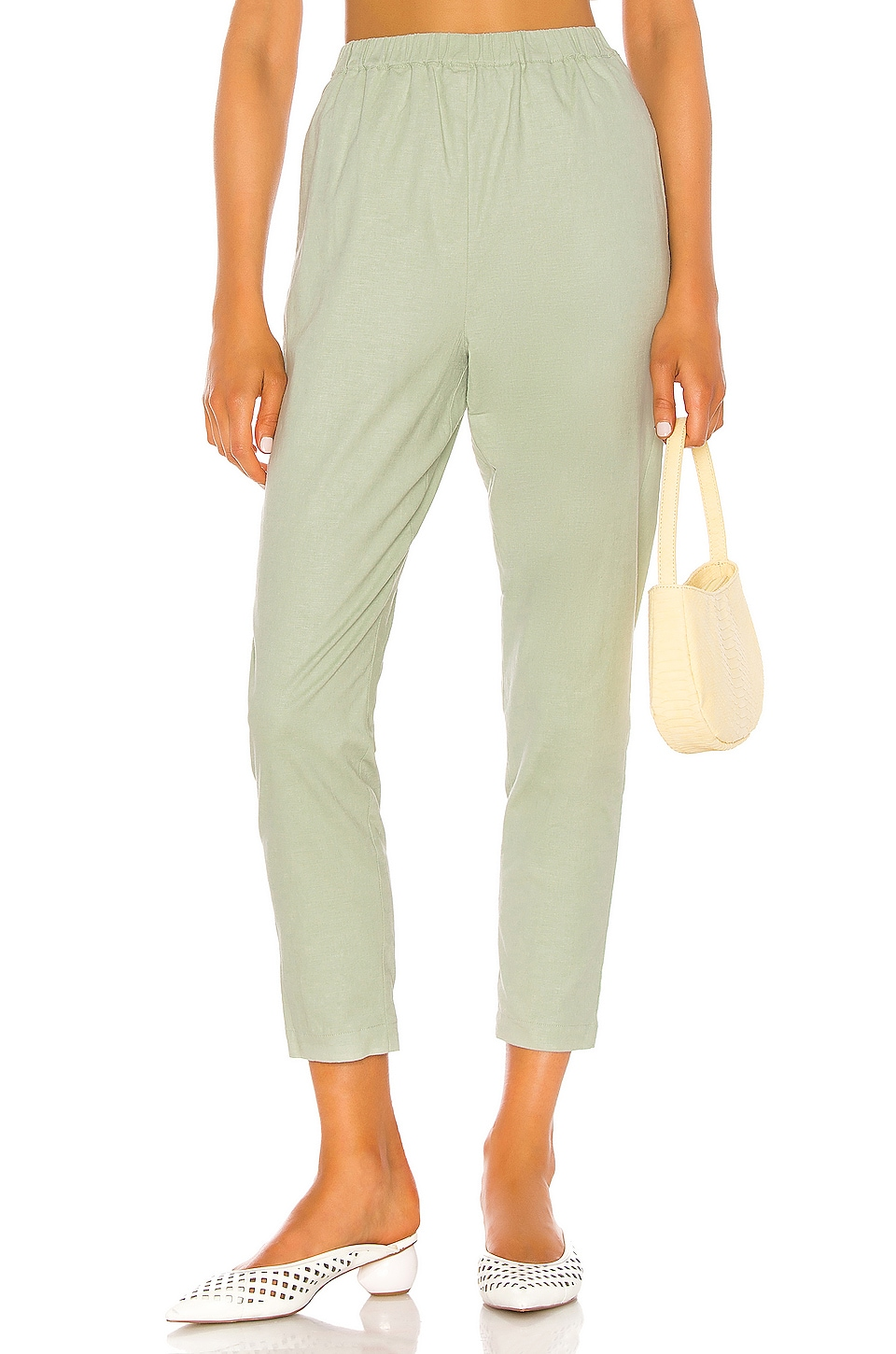 Song of Style Pico Pant in Sage Green