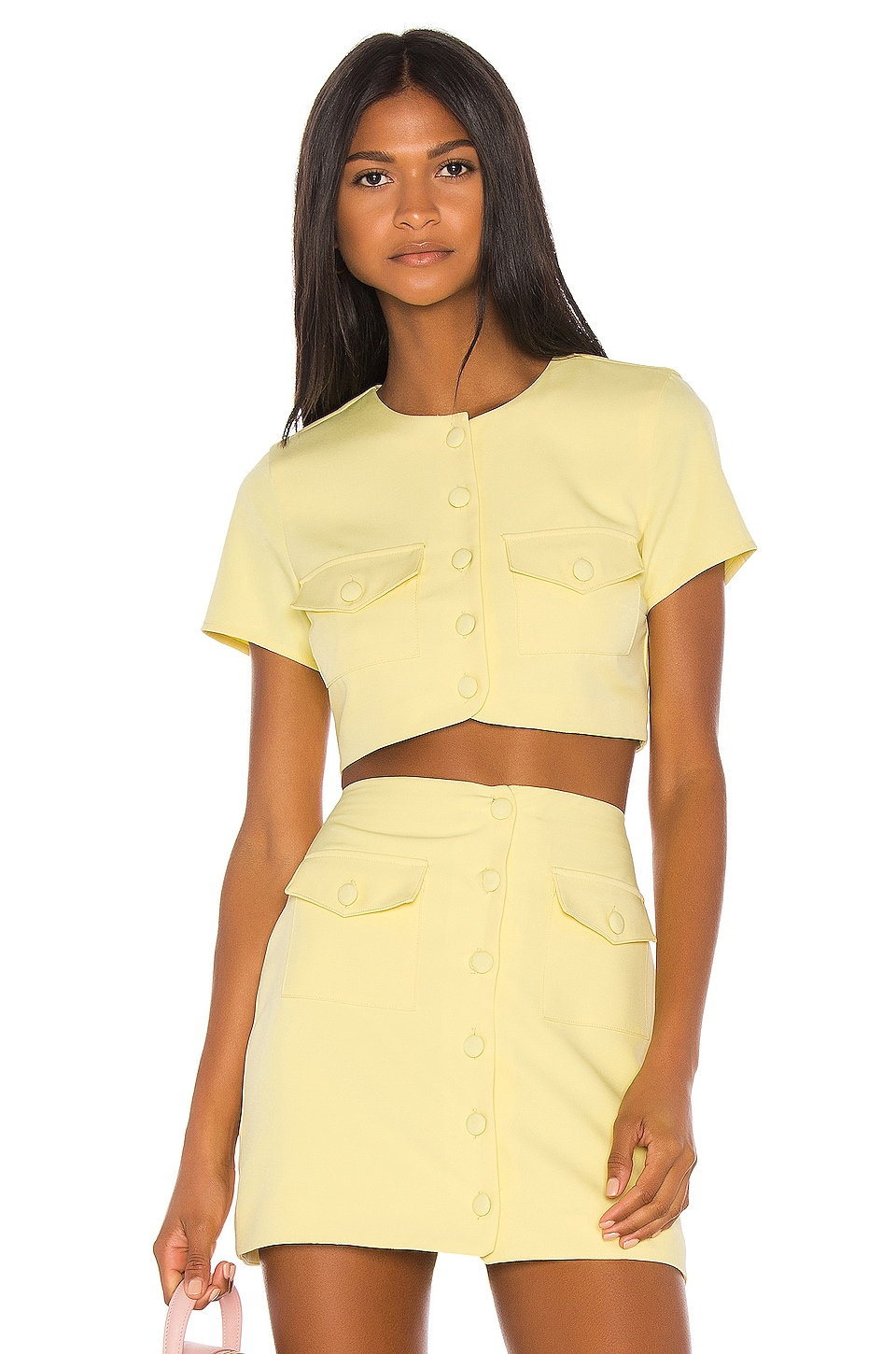 Song of Style Gala Top in Citrus Yellow
