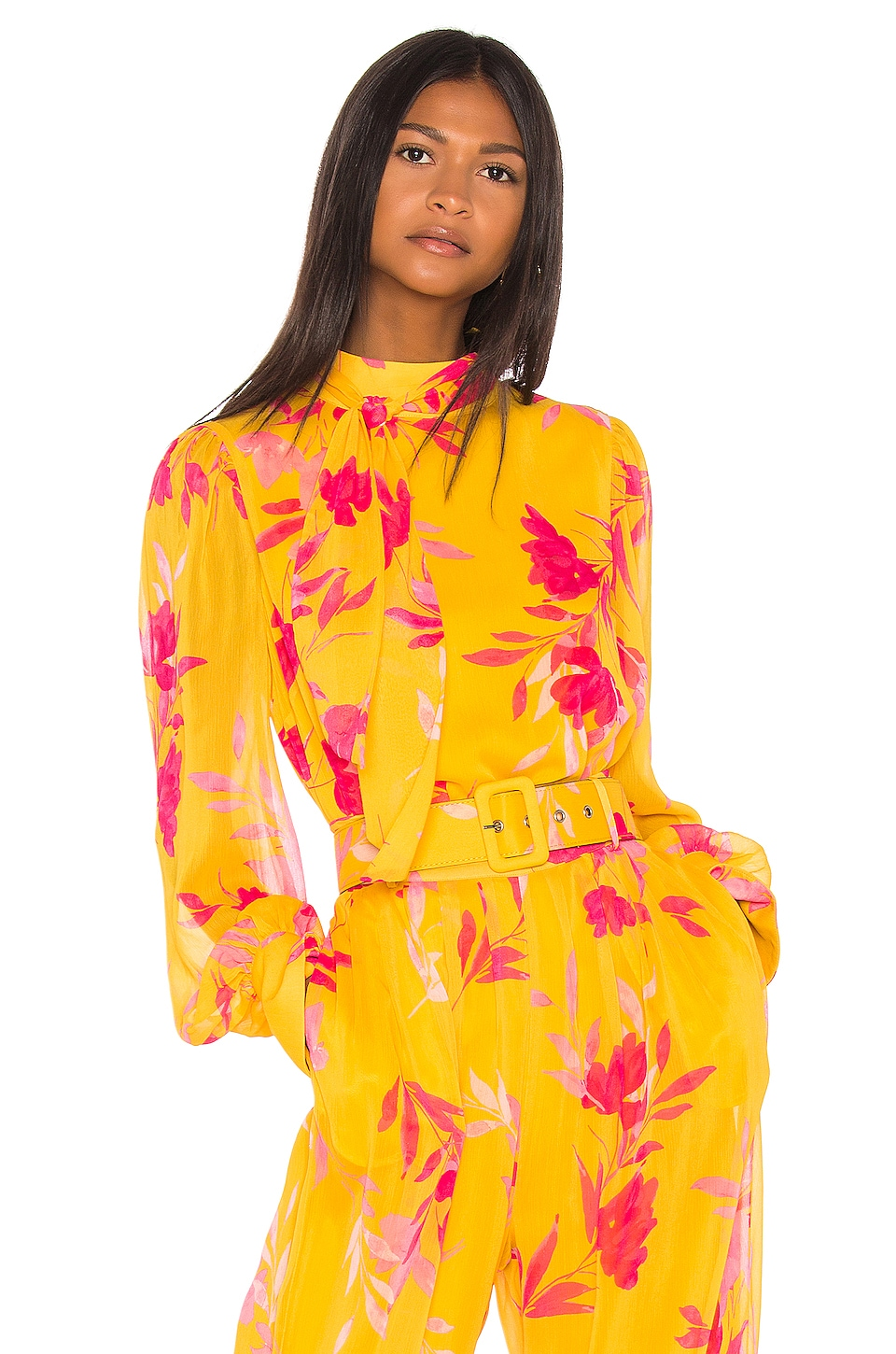 Song of Style Stevie Top in Yellow Floral